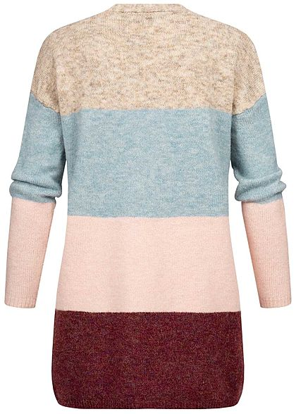 ONLY Damen Colorblock Wide Knit Cardigan tortois shell multicolor