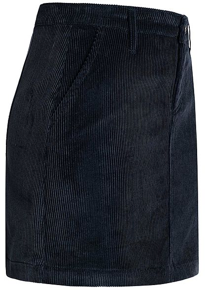 ONLY Damen High-Waist Mini Cord Skirt 2-Pockets night sky navy blau