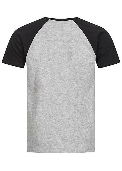 Urban Classics Herren 2-Tone Raglan T-Shirt hell grau schwarz