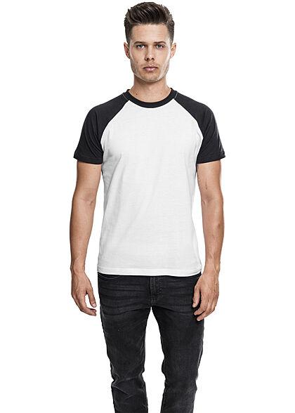 Urban Classics Herren 2-Tone Raglan T-Shirt weiss schwarz