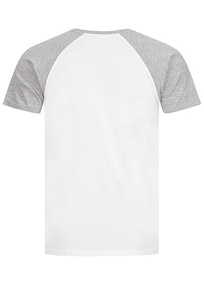 Urban Classics Herren 2-Tone Raglan T-Shirt weiss hell grau
