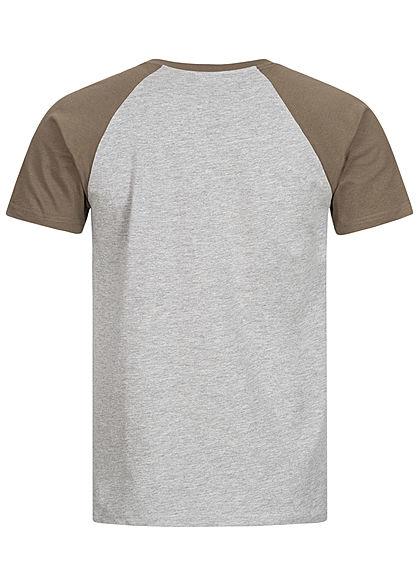 Urban Classics Herren 2-Tone Raglan T-Shirt hell grau army grün