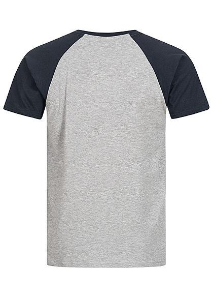 Urban Classics Herren 2-Tone Raglan T-Shirt hell grau navy blau