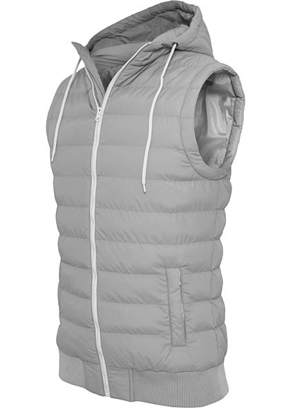 Seventyseven Lifestyle TB Herren Small Bubble Hooded Vest hell grau weiss