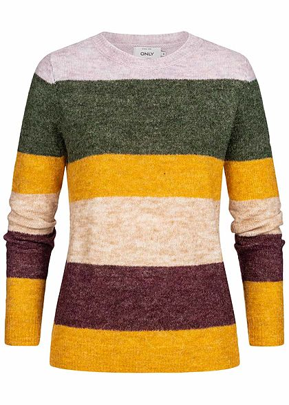 ONLY Damen Striped Knit Sweater orchid multicolor