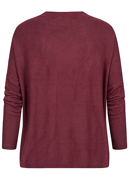 ONLY Damen Oversized High-Neck Soft Touch Pullover tawny port bordeaux rot