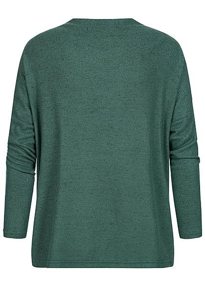 ONLY Damen Oversized High-Neck Soft Touch Pullover gables grün