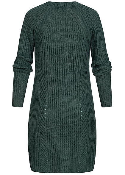 ONLY Damen NOOS Grobstrick Cardigan 2-Pockets gables grün
