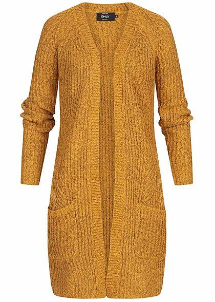begrenzter Verkauf online Shop Treffen ONLY Damen Knit Cardigan NOOS golden glow gelb