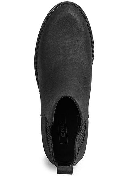ONLY Damen NOOS Schuh Block Heel Boots Kunstleder Absatz 7cm schwarz