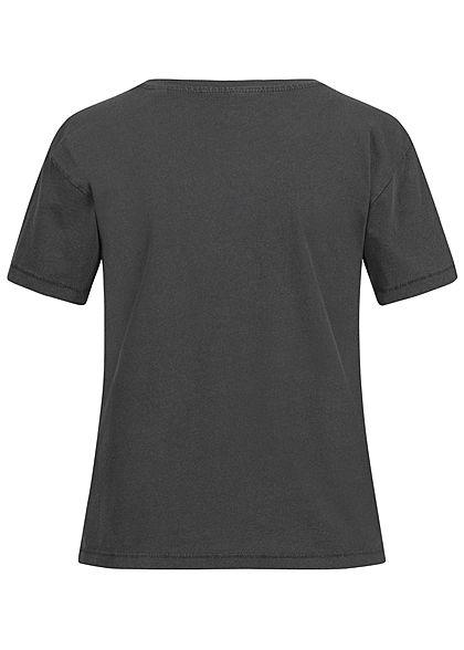 ONLY Damen KISS T-Shirt Love Gun Print phantom dunkel grau
