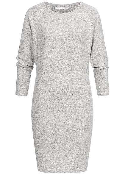 ONLY Damen 7/8 Bat Sleeve Knit Dress hell grau melange