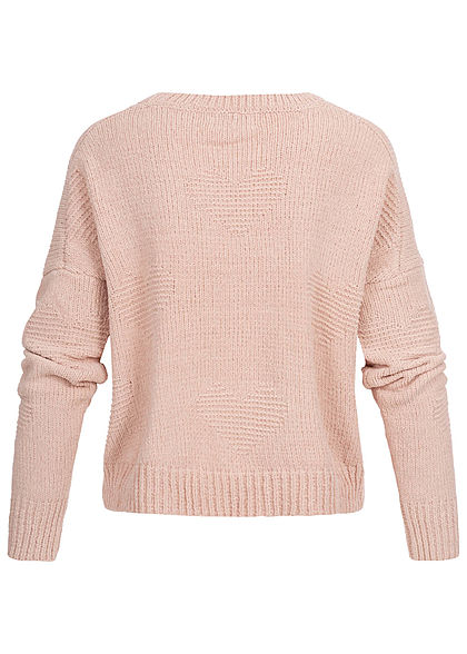ONLY Damen Oversized Knit Pullover shadow gray rosa