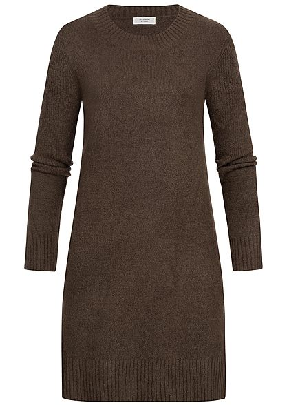 JDY by ONLY Damen Knit Dress NOOS coffee bean braun