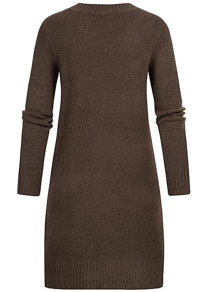 JDY by ONLY Damen Knit Dress NOOS coffee bean braun