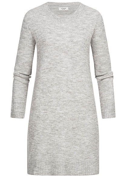 JDY by ONLY Damen Knit Dress NOOS hell grau melange