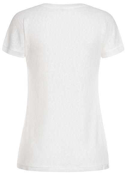 ONLY Damen T-Shirt Deko Perlen cloud dancer weiss