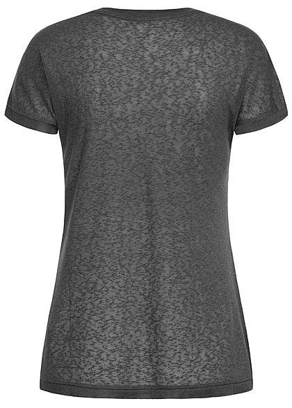 ONLY Damen T-Shirt Deko Perlen phantom dunkel grau