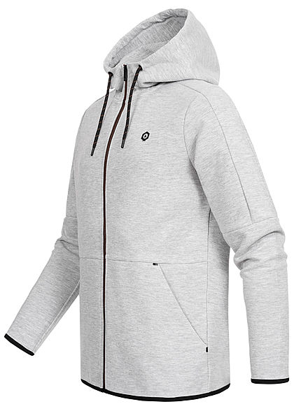 Jack and Jones Herren Sweat Zip Hoodie 2-Pockets hell grau melange