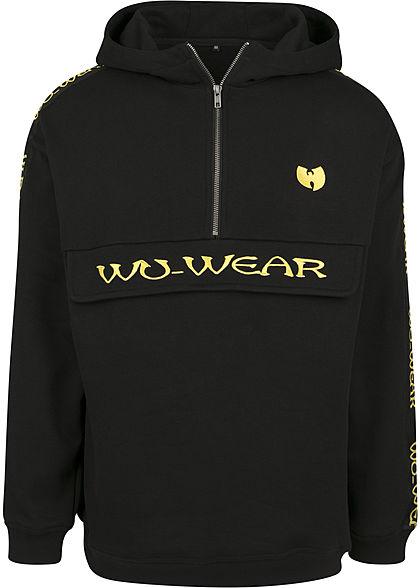 Wu Wear TB Herren Hoodie Logo Patch schwarz