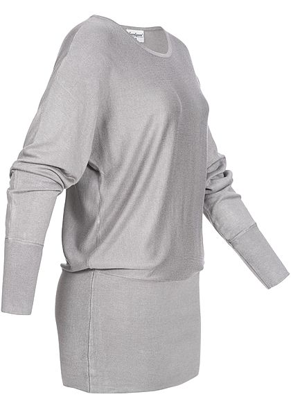 Seventyseven Lifestyle Damen Long Soft Sweater hell grau