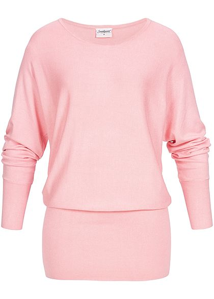 Seventyseven Lifestyle Damen Long Soft Sweater hell rosa