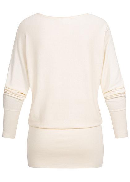 Seventyseven Lifestyle Damen Long Soft Sweater ecru off weiss