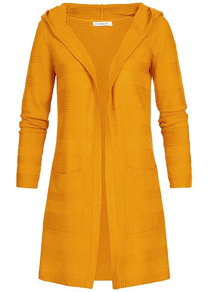 UK-Shop große Auswahl an Designs neuesten Stil Seventyseven Lifestyle Damen Cardigan 2-Pockets curry gelb