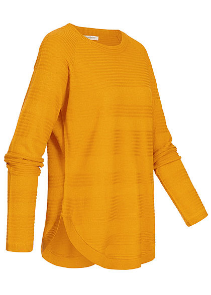 Seventyseven Lifestyle Damen Oversized Structure Sweater curry gelb