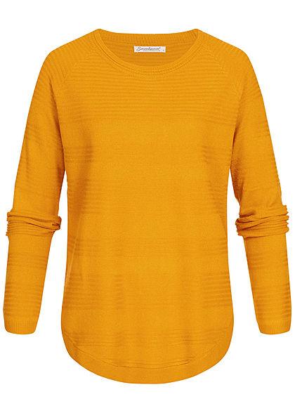 Seventyseven Lifestyle Damen Oversized Structure Sweater curry gelb