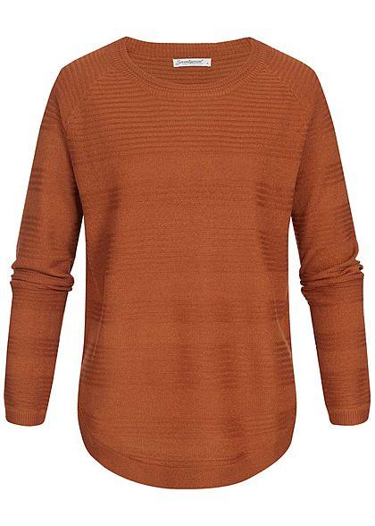 Seventyseven Lifestyle Damen Oversized Structure Sweater caramel braun