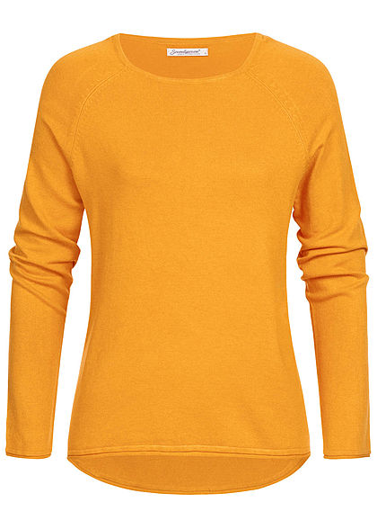 Seventyseven Lifestyle Damen Sweater curry gelb