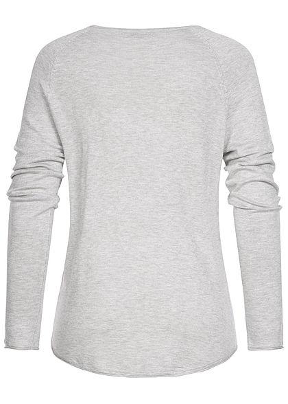 Seventyseven Lifestyle Damen Sweater hell grau melange