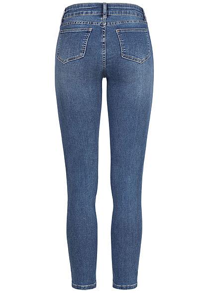 Seventyseven Lifestyle Damen High-Waist Skinny Jeans 5-Pockets medium blau denim