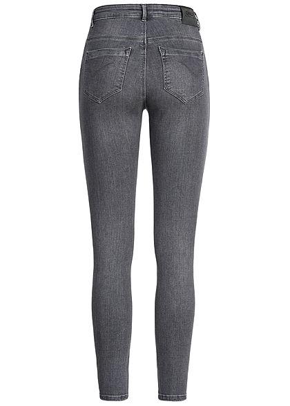 ONLY Damen NOOS High-Waist Skinny Jeans 5-Pockets washed grau denim