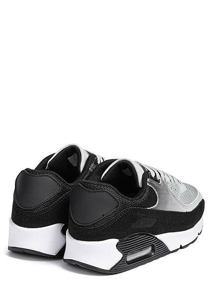 Seventyseven Lifestyle Damen Schuh 3-Tone Sneaker schwarz hell grau