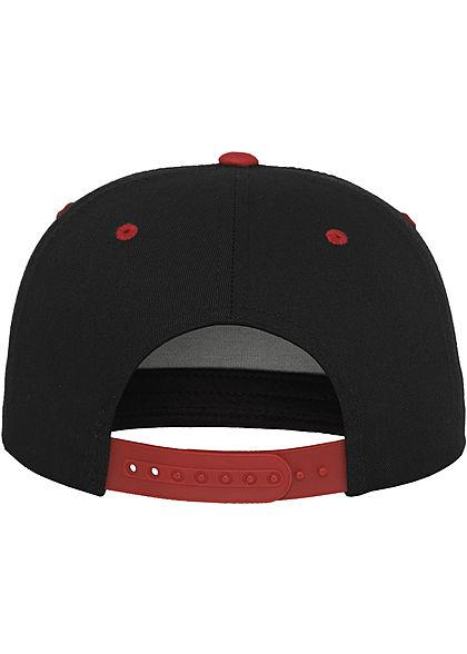 Flexfit TB 5-Panel Snapback Cap schwarz rot