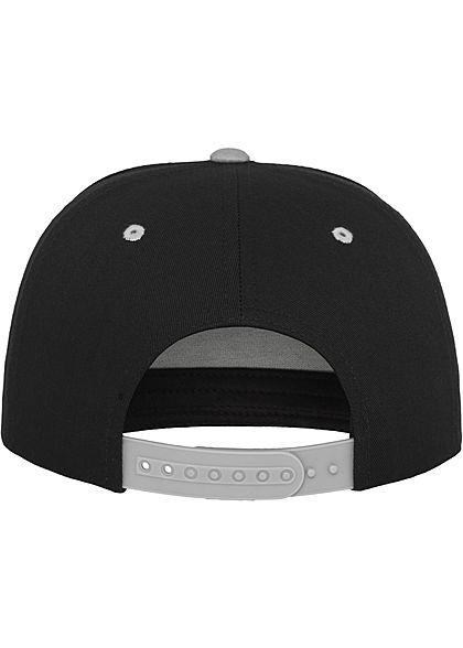 Flexfit TB 5-Panel Snapback Cap schwarz silber