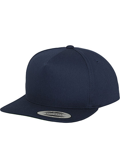 Flexfit TB 5-Panel Basic Snapback Cap navy blau