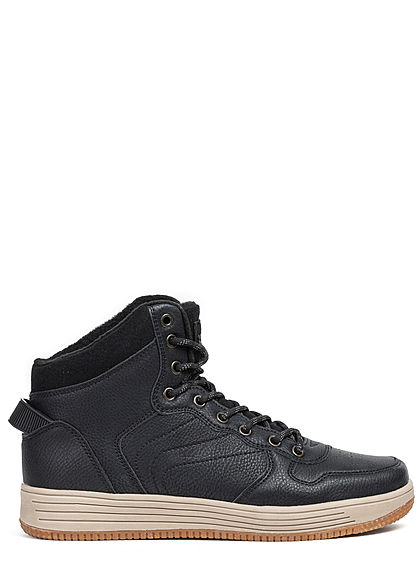 Seventyseven Lifestyle TB Herren High Top Winter Sneaker schwarz