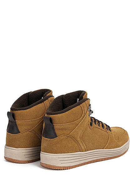 Urban Classics Herren Schuh High Top Winter Sneaker honey braun