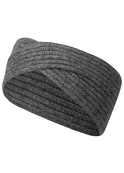günstig kaufen beste website mehr Fotos ONLY Damen Strick Stirnband Kreuzung vorne dunkel grau melange