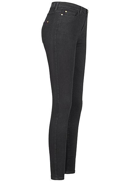 JDY by ONLY Damen NOOS Skinny Jeans High-Waist 5-Pockets schwarz denim