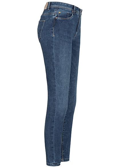 ONLY Damen Ankle Skinny Carmen Jeans 5-Pockets Regular Waist medium blau denim