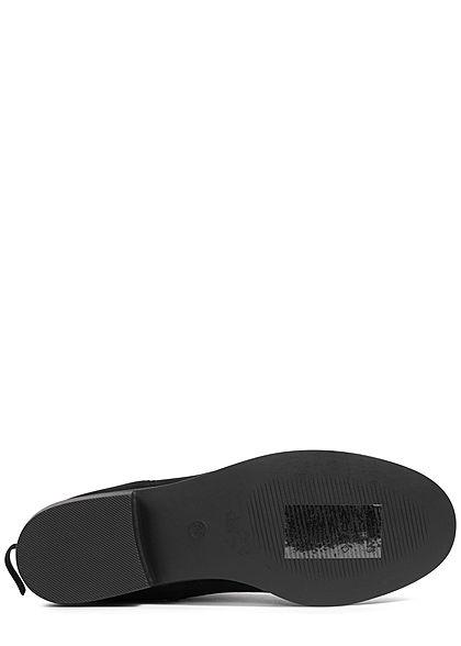 Hailys Damen Worker Boots Stiefelette Kunstleder schwarz