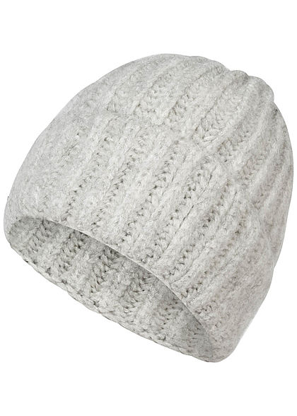 strukturelle Behinderungen hochwertiges Design sehr bekannt Zabaione Damen Wollmütze hell grau melange - 77onlineshop