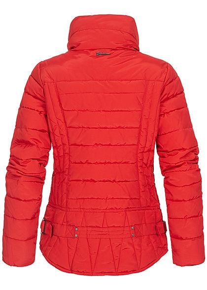 Zabaione Damen Winter Steppjacke 2-Pockets Stormcuffs cherry rot