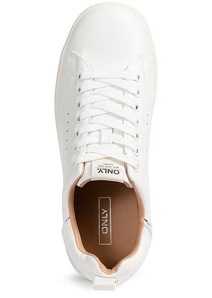 ONLY Damen NOOS Basic Sneaker Kunstleder weiss