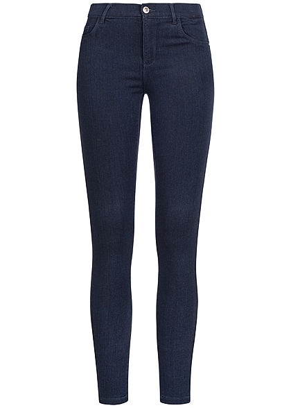 ONLY Damen NOOS Skinny Jeggings 2-Pockets Regular Waist dunkel blau denim