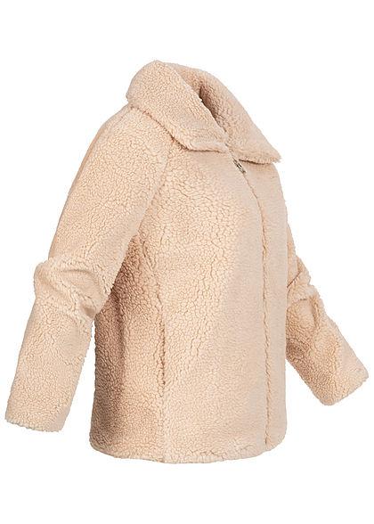 Hailys Damen Teddyfell Jacke 2-Pockets beige
